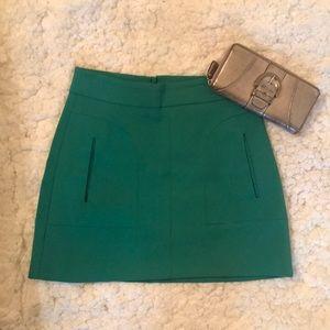 Zara Woman Green Mini Skirt